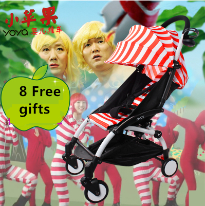 Yoya ultra-light folding baby stroller shock absorbers bb wheelbarrow car umbrella mullti colors(China (Mainland))