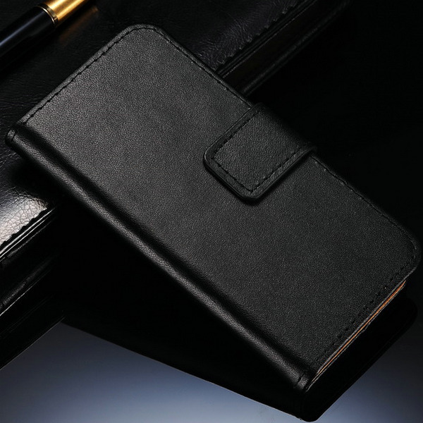 10 pcs/lot Real Genuine Leather Case For Alcatel One Touch Idol Mini 6012D 6012A 6012X 6012W Flip Stand Book Case Wholesale