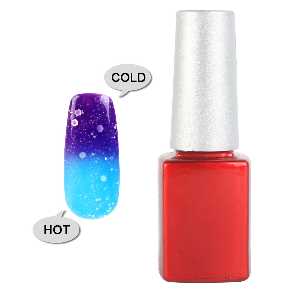 Uv Gel Nail Polish: 1PC 12ml Temperature Change Color Uv Gel Nail Polish Soak