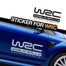 Personality WRC car-styling side door decor  stickers,die cut automobiles vinyl decals and labels,waterproof glue  adhesive