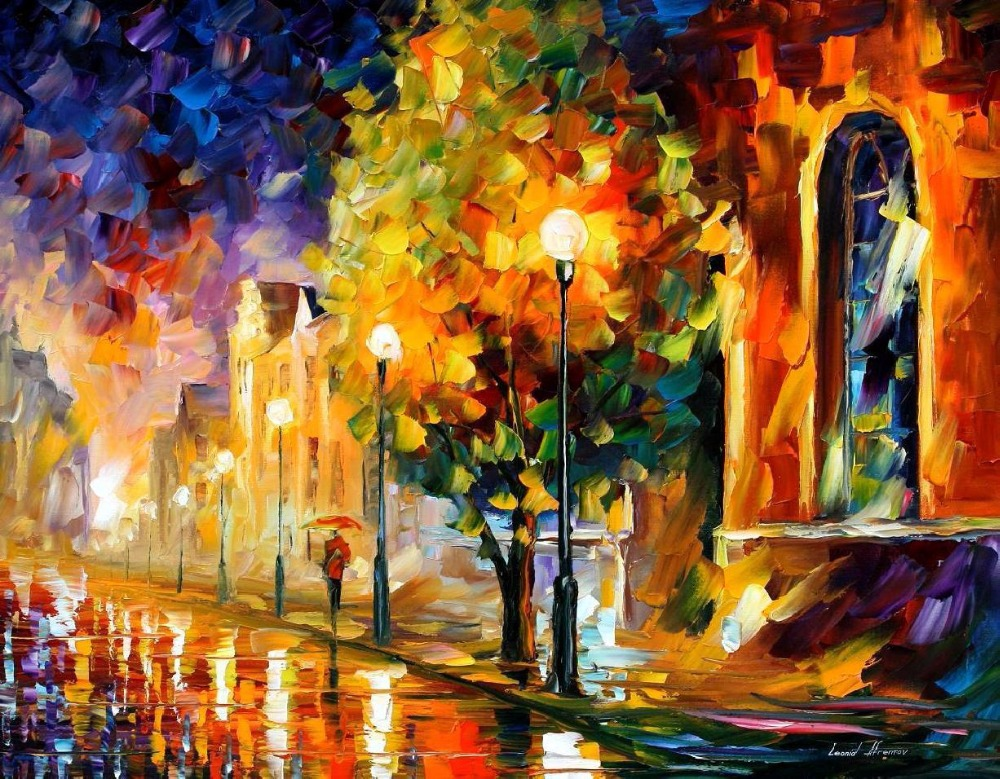 beautiful Painting Home Decor before sunrise Colorful oil