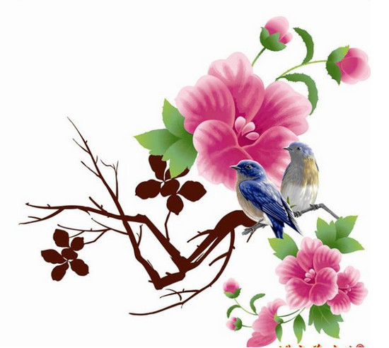 Birds Flowers Drawing Hot Sale 2014 Drawing Flower
