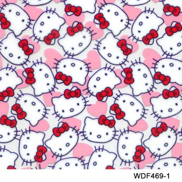 Free Shipping width 50cm WDF469-1 5Square water transfer printing film pink cat cartoon Hydro Graphics Film(China (Mainland))