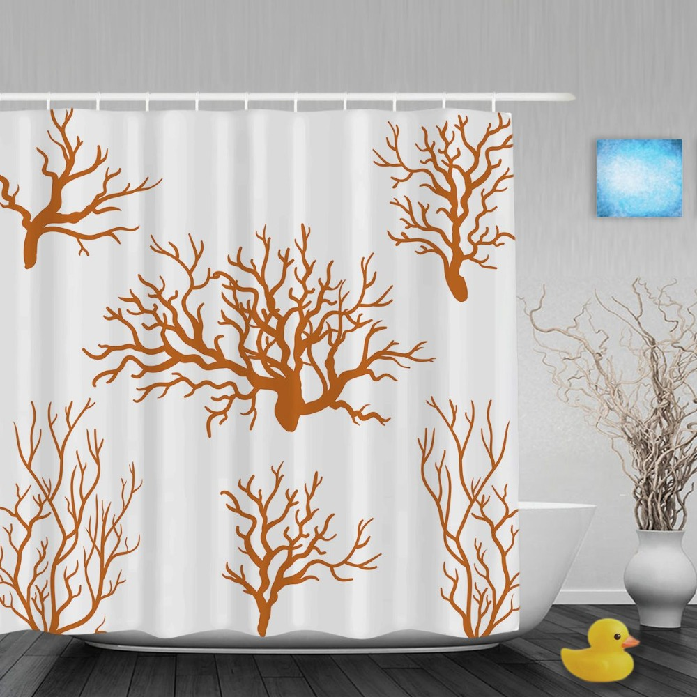 Coral shower curtains promotion shop for promotional coral for Bathroom decor coral