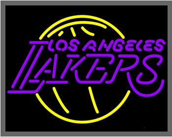 """2015 Hot Neon Sign Commercial Custom Neon Sign Los Angeles Lakers NNBA Neon Sign Display Glass Neon 30*24""""(China (Mainland))"""