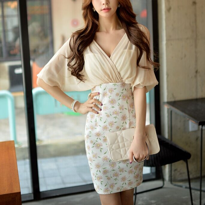 dabuwawa dress female summer 2016 new v collar high waisted fashion sexy slim hip women office dresses big sizes pink dollОдежда и ак�е��уары<br><br><br>Aliexpress