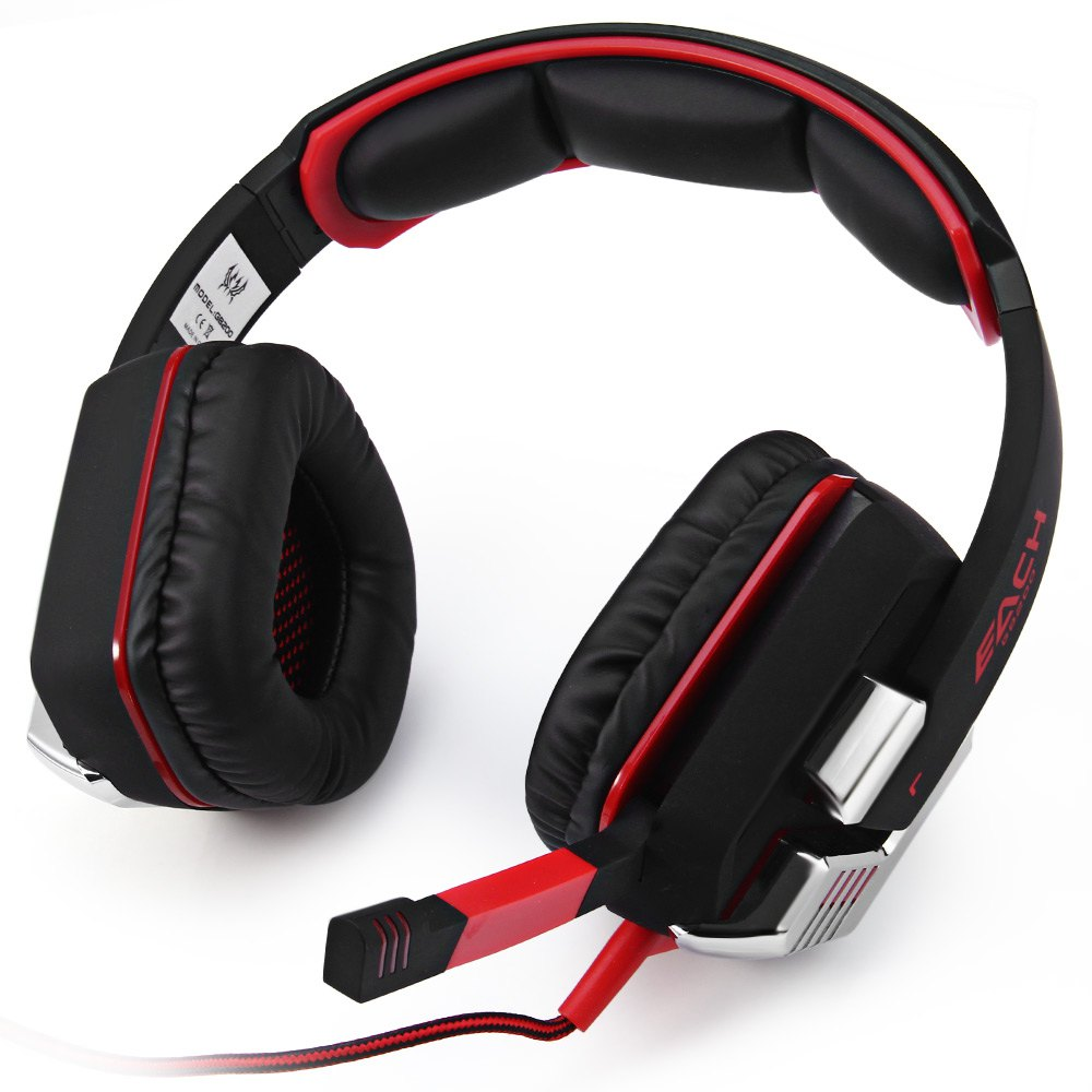 EACH G8200 Wired 7.1 Surround Micro USB Interface 50mm Driver Unit Vibration Gaming Headphones with Mic LED Light for PC Gamer(China (Mainland))