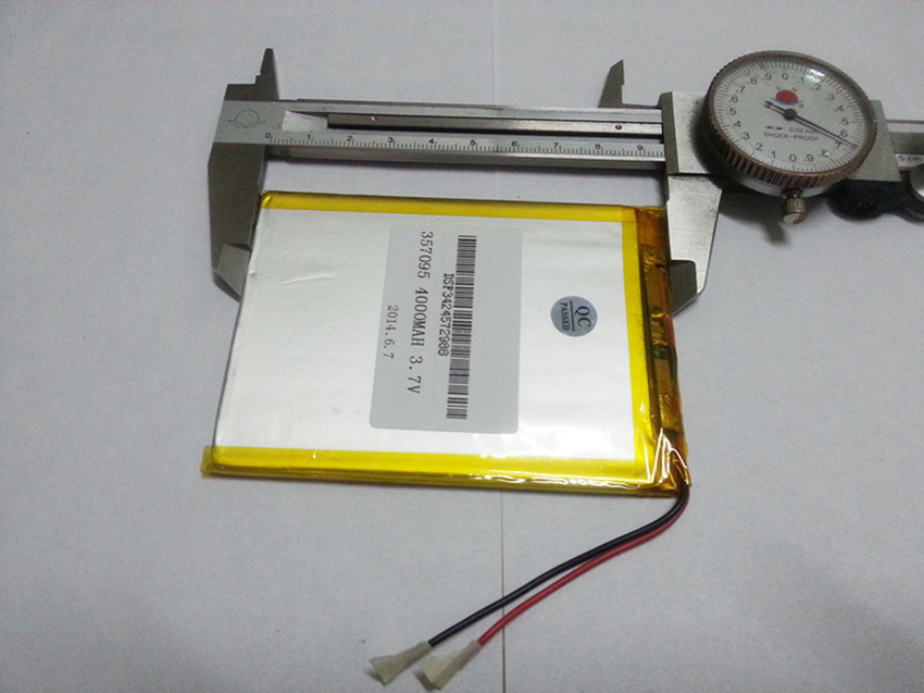 Free shipping LP357095MID lithium battery 3 7v 4000mah 357095 polymer lithium ion battery