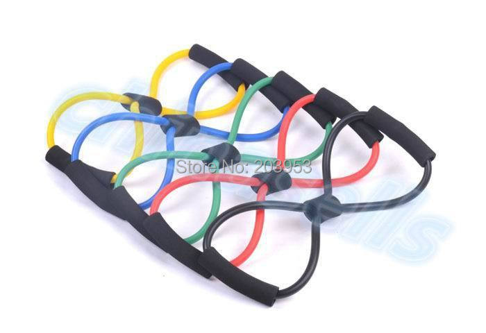 hot Fitness Resistance Exercise Bands Tubes Practical Elastic Training Rope Yoga 8 Pull Rope Pilates ABS Workout Cordages