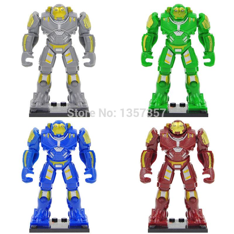 40PCS Building Blocks Super Heroes Avengers HULK BUSTER Minifigure IRON MAN HULK BUSTER Bricks Action Mini