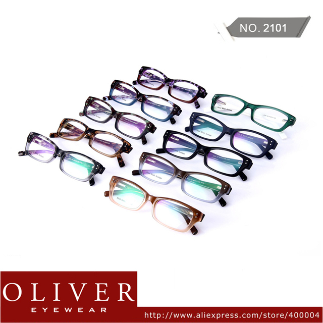 Wholesales!2013 New Fashion Man Optical Frame Leopard And Patchwork Design Eyeglasses Frame Oliver Brand Eyewear!Free Shipping!