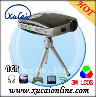 Home portable mini projector of 50 lumens high definition for Small projector with high lumens