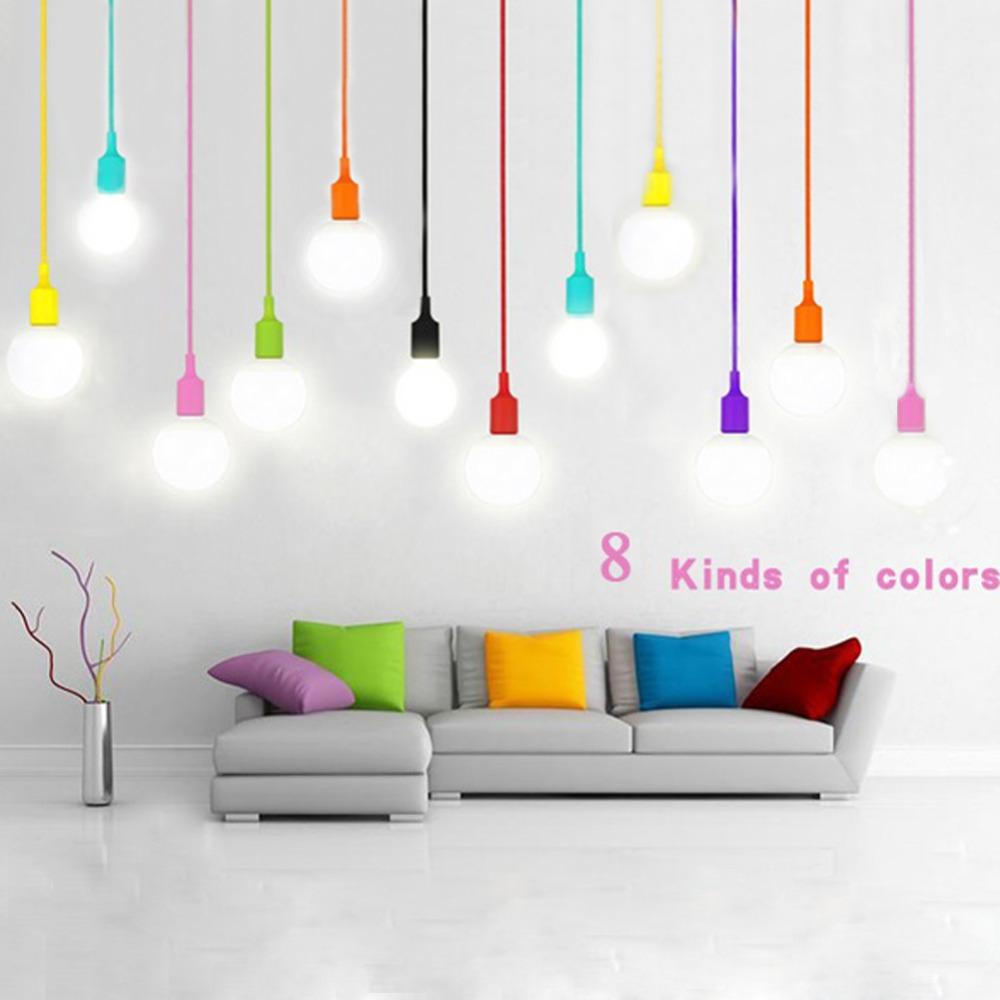 Modern Simple Colorful Silicone Fashion Novelty Pendant Lamp Design Children Bedroom Restaurant Decration Pendant Light(China (Mainland))