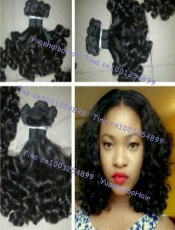 6A top quality 3pcs/lot #1b funmi bouncy curl brazilian virgin funmi hair weft for black women free shipping<br><br>Aliexpress