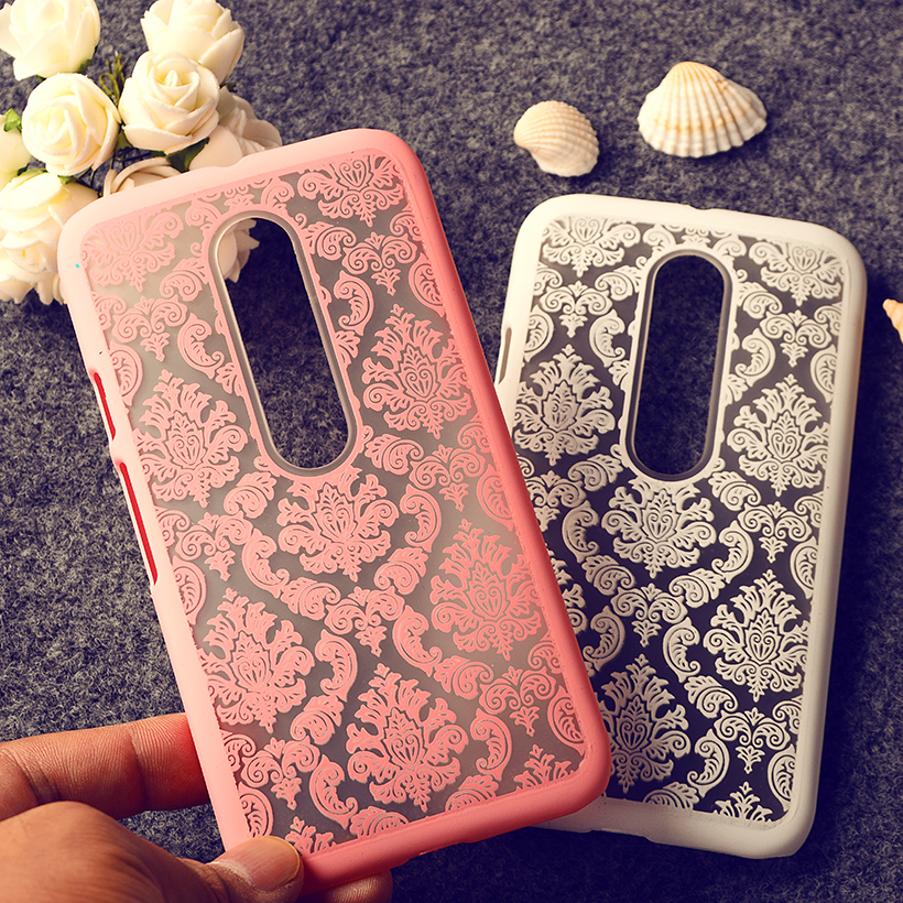 Palace Paper Cut Flower Pattern Henna Floral Retro mobile phone skin case Cover For Motorola G3 G 3rd Gen XT1541phone Hard shell(China (Mainland))