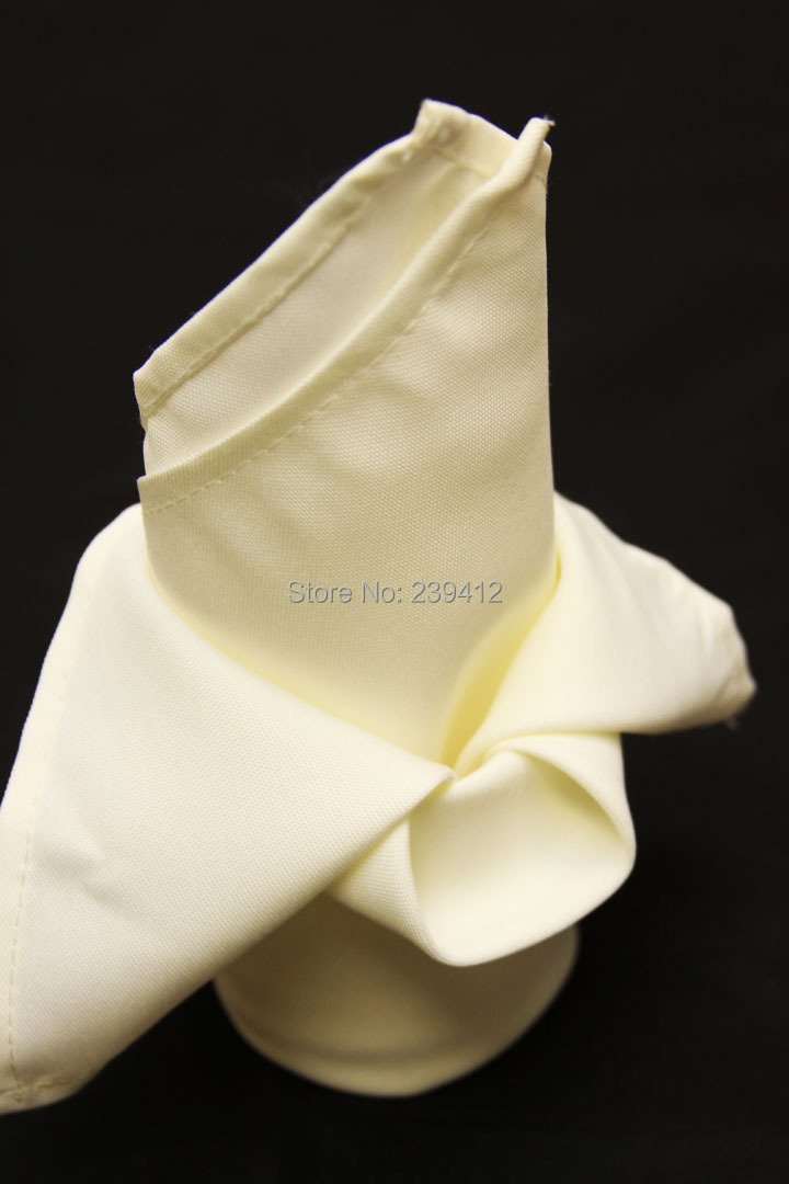 100pcs #69 Ivory Polyester Napkin 45x45cm for Wedding Events &Party,Restaurant&Hotel,(China (Mainland))