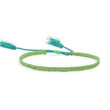 Murni Buatan Tangan Gaya Multicolor Bohemia Gelang Musim Panas Jalinan Rope Rantai Gelang Diy Tenun Rajutan Gelang Untuk Wanita(China)