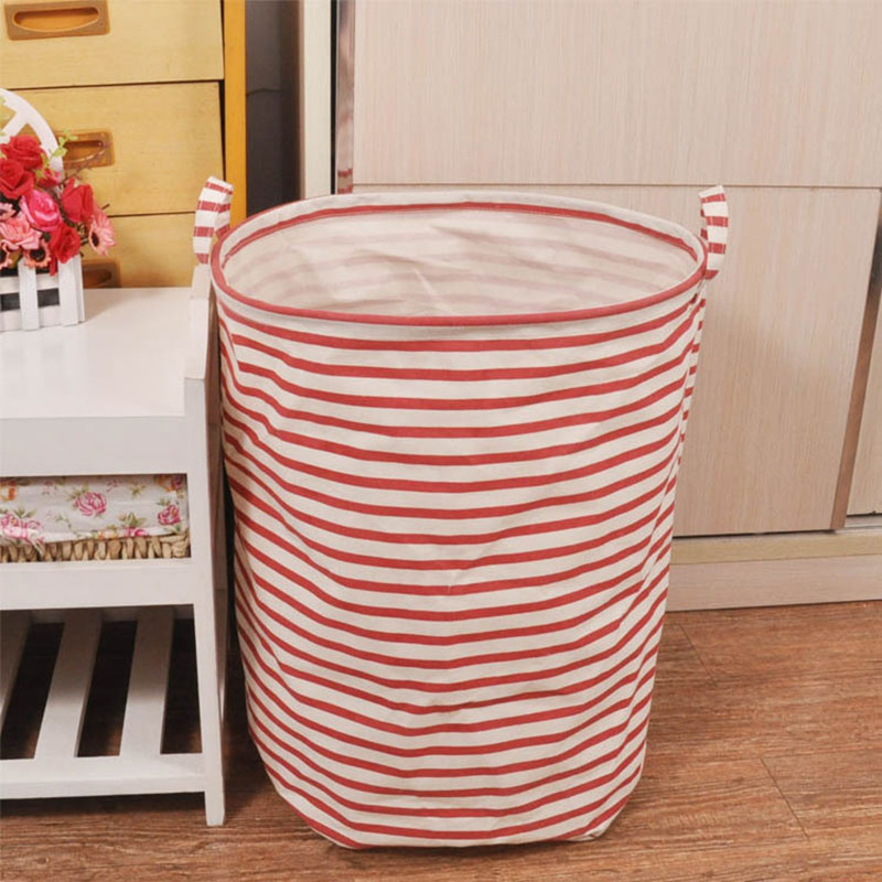 New Foldable Unique Cotton Linen Washing Clothes Laundry Basket Bag Hamper Storage #82332(China (Mainland))