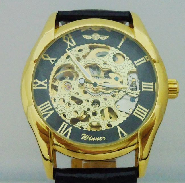 Winner mechanical watch male boys fully automatic vintage fashion mens watch j050