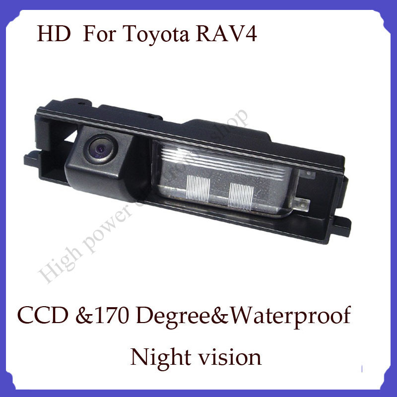 For Toyota RAV-4 parking camera HD Night vision CCD 170 degree Parking assistance Security car rear backup camera(China (Mainland))