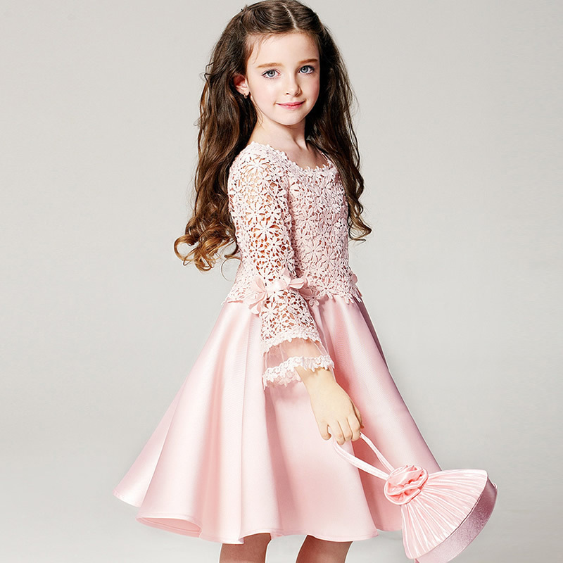 2016 New teenage girls clothing clothes dresses flower girl formal summer party dress kids frock designs kids spring summer 31