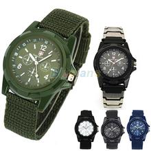 New Solider Military Army Men's Sport Style Canvas Belt Luminous Quartz Wrist Watch 4 Colors 027E