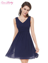 Cocktail Dresses Ever-Pretty HE03909 2017 Extra Size Elegant Sleeveless V-neck Short Party Cocktail Dress(China (Mainland))