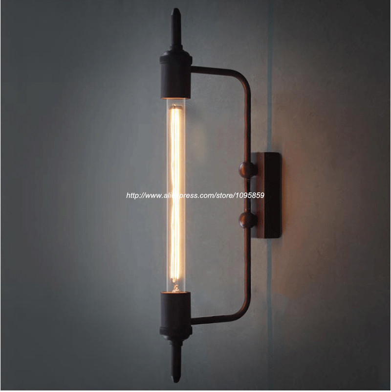 Aliexpress.com : Buy Free Shipping Vintage Black Dining Room Steam Pipe Style Metal Wall Lamps ...