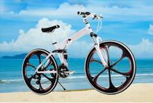 Buy Kalosse Full suspension folding mountain bicycle Folding 26*2.125 Tires Hydraulic brakes 21/24/27/30speed, tyre dirt bike for $273.90 in AliExpress store