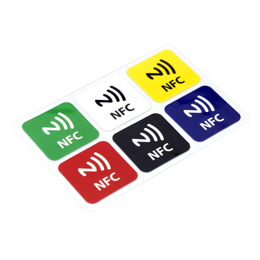 6pcs/lot Universal Smart NFC Tags Stickers Waterproof RFID Adhesive Label for Samsung Galaxy S6 S5 Note 3 for Nokia Lumia 920(China (Mainland))