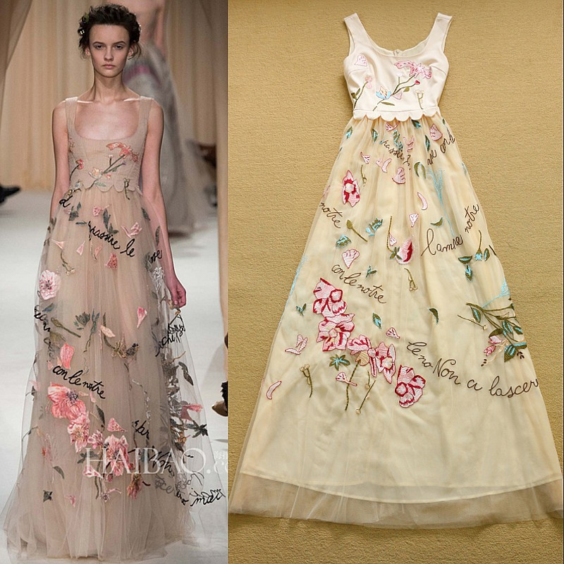 Top quality newest fashion designer runway maxi dress