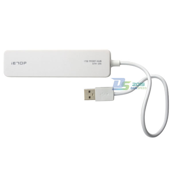 White USB 2.0 High Speed External 7 Port Hub Adapter For Laptop PC Bus Power 480Mbps(China (Mainland))