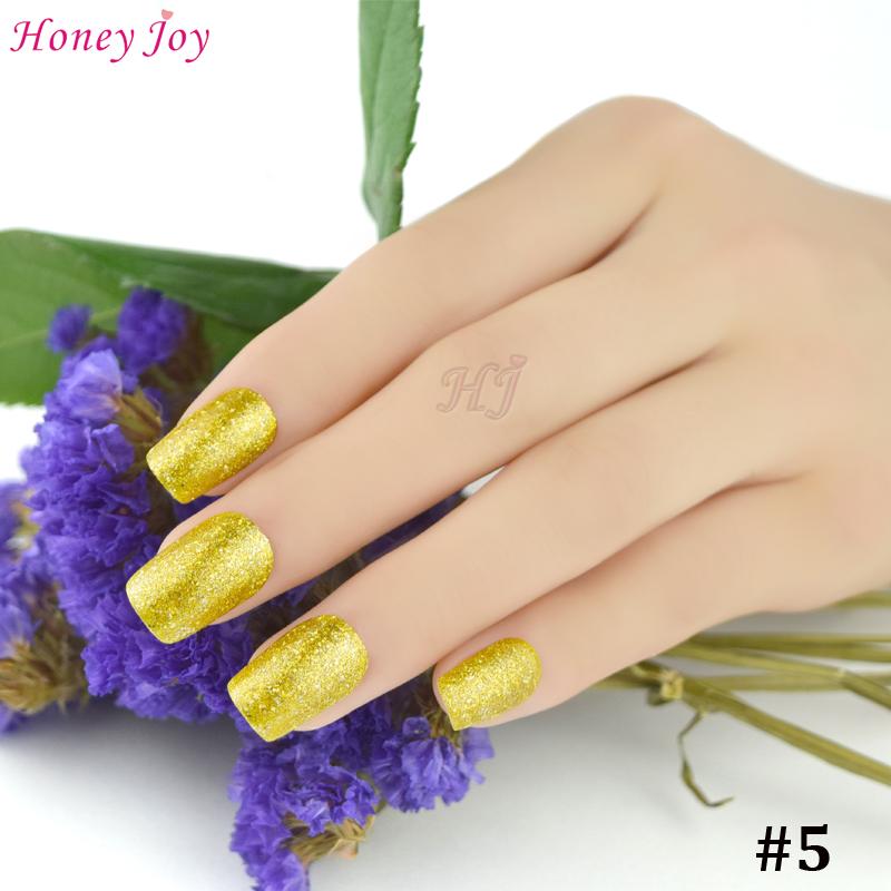 Honey Joy 1pc Gloden Color Flashing UV Nail Gel Polish Long Lasting UV LED Nail Polish Lacquer Need UV Gel Base And Top Coat(China (Mainland))