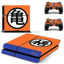 Anime Dragon Ball Goku for PS4 Skin Sticker for PS 4 Console & 2 Remote Controllers skins Stickers Gaming Accessories