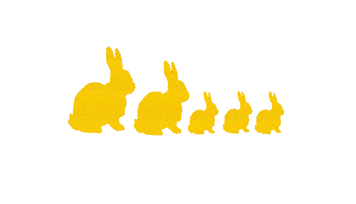 Wholesale 20pcs/lot Super Cute Rabbit Silhouette Family Sticker For Car Window Truck Bumper Auto Door Kayak Vinyl Decal Hot Sale(China (Mainland))