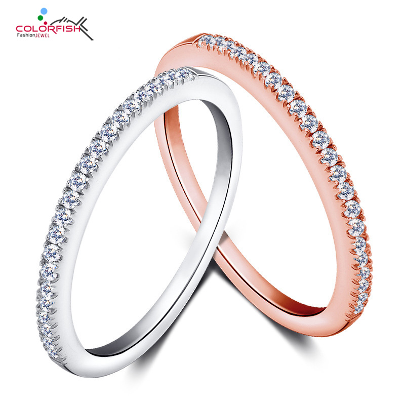 18K Rose Gold Plated Eternity Ring 1mm Thin Finger Knuckle Ring Elegant Simple Midi Stackable Ring Women Sterling Silver Jewelry(China (Mainland))