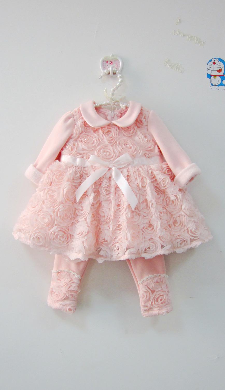 2015 autumn new baby wedding dress baby newborn floral for Baby wedding dresses newborn