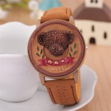 Relogio del impermeable masculino del cuarzo de hombre, mujeres oso encantador del reloj digital. alta calidad de los niños de la historieta relojes de pulsera