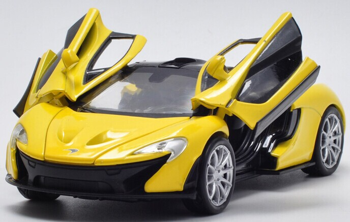 2014 New Arrival World Famous Car Model 1:32 High Imitation P1 Sports Car Alloy Warrior Acoustooptical Car Toy Free Shipping(China (Mainland))