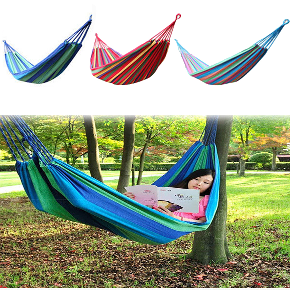 Top Sell Outdoor Hammock Cotton Fabric Thickening Hammock Air Chair Hanging Swinging Camping garden swing Maximum Payload 250KG(China (Mainland))
