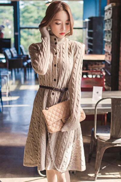 High Neck Sweater Dress High Neck Sweater Dress
