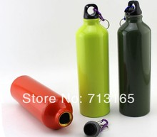 Food grade Aluminum alloy bicycle water bottle sport water bottle free shipping(China (Mainland))