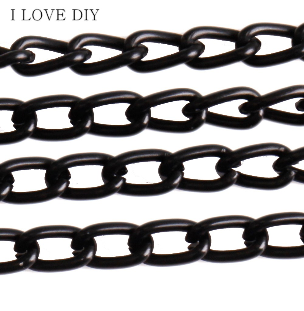 5m/lot High-End Black Cable Link Chain Findings Brass Chain Copper for DIY Necklace Bracelets Making(China (Mainland))