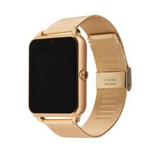 GT08 Además de Metal Reloj Reloj inteligente Bluetooth Conectividad teléfono Android, Tarjeta de la ayuda SIM Smartwatch Sync Notificador de Mensajes de Inserción
