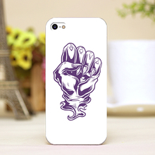 pz0024-3-30 fist tattoo Design Customized cellphone cases For iphone 4 5 5c 5s 6 6plus Shell Hard Lucency Skin Shell Case Cover