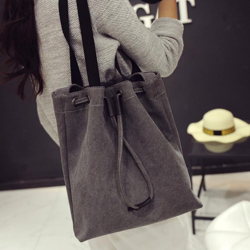 bolsos mujer de marca famosa 2016 Korean descendants new spring Tote canvas bags simple single shoulder