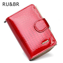 Buy RU&BR Coat Paint Womens Wallet New Fashion Purse Women's Cowhide Clutch Zipper Credit Cion Pocket Card Holder Genuine Leather for $9.98 in AliExpress store