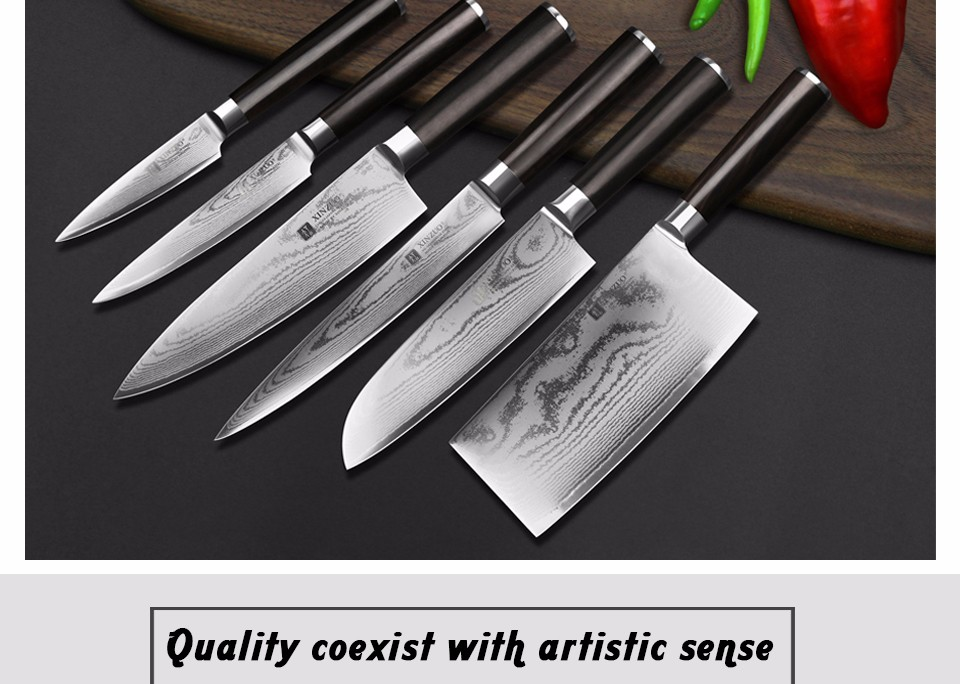"Buy XINZUO 8"" inch chef knife Japanese 67 layers Damascus VG10 steel kitchen knives cooking tools ebony wood handle Free shipping cheap"