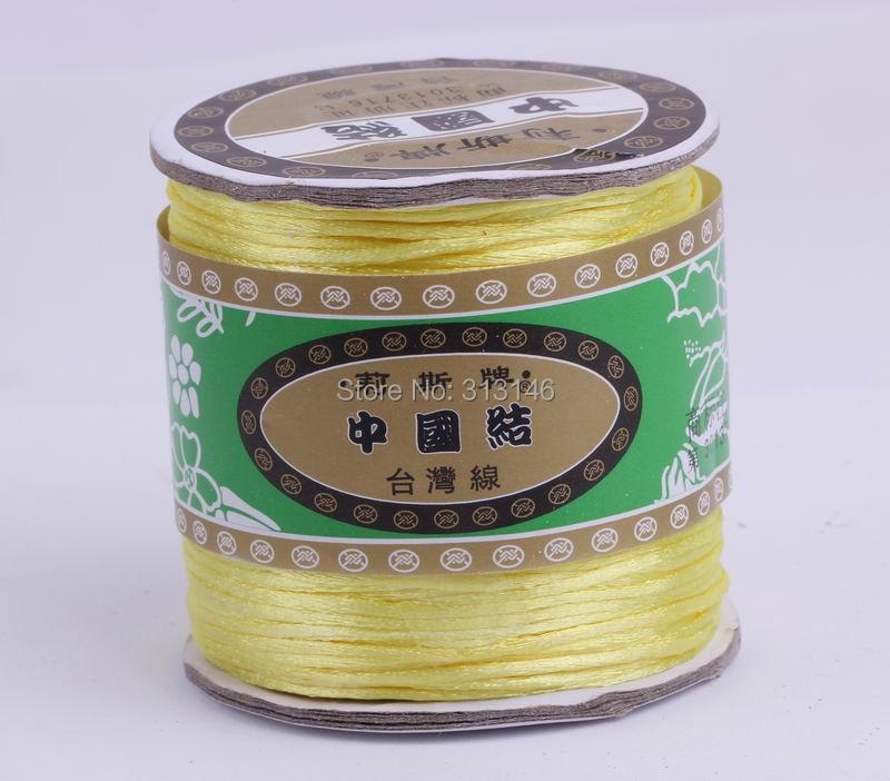 80M/Roll 1.5MM Braided Lemon Yellow Nylon Chinese Knot Cord Macrame String Thread for Handcraft Handmade Shamballa Jewelery(China (Mainland))