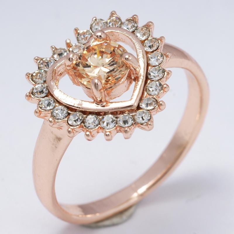 Dropship Green Wedding Girls Hot Selling 18K Rose Gold Filled Cubic Zircon Women Lady Fashion Rings Jewelry R0012(China (Mainland))